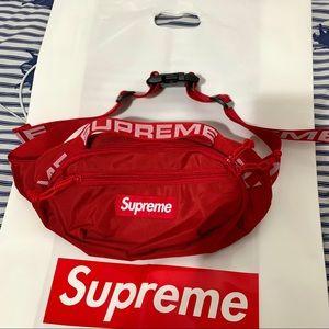 Supreme waist bag ss18 red